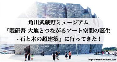 角川武蔵野ミュージアム『隈研吾 大地とつながるアート空間の誕生-石と木の超建築』